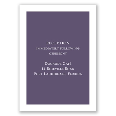 Simple Joys - Reception Card