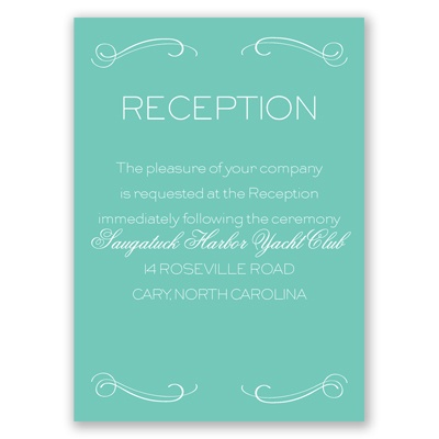 Elegantly Etched - Reception Card