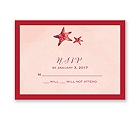Watercolor Starfish - Merlot - Response Card and Envelope