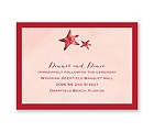 Watercolor Starfish - Merlot - Reception Card