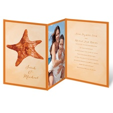 Watercolor Starfish - Terra Cotta - Invitation