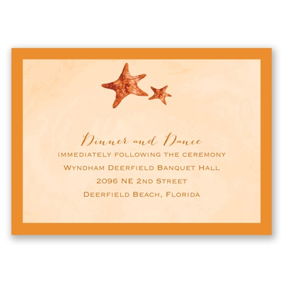 Watercolor Starfish - Terra Cotta - Reception Card
