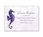 Sweet Sea Horses - Grapevine - Reception Card