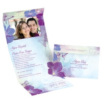 Flowers and Butterflies - Grapevine - Seal and Send Invitation
