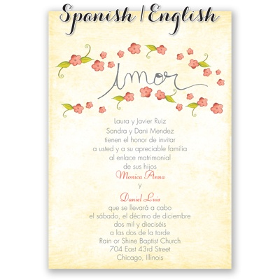 Wedding Invitation Wording In Spanish is one of our best ideas you might choose for invitation design