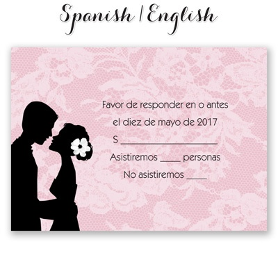 Wedding Response Card In Spanish – Wedding Invitation Ideas