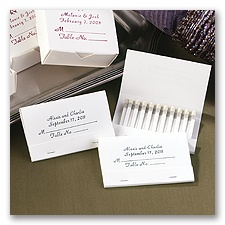 Personalized Place Card Matches