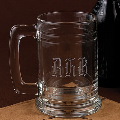 Wedding Party Gifts   on Home    Gifts    Wedding Gifts For Men    Monogrammed Glass Mug