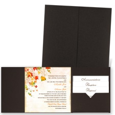 Last of Fall - Brown Shimmer - Pocket Invitation