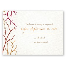 Twigs on Burlap - Bark - Response Card