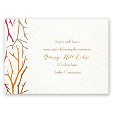 Twigs on Burlap - Bark - Reception Card