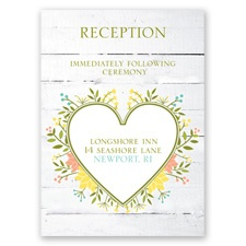 Spring Love - Reception Card