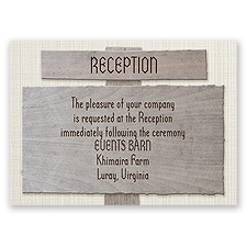 Country Signs - Reception Card