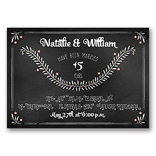 Chalkboard Art - Anniversary Invitation
