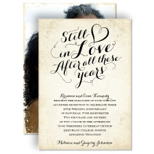 Still In Love - Anniversary Invitation