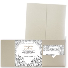 Damask Moon - Gold Shimmer - Pocket Invitation