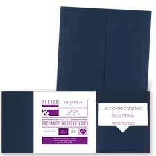 Modern Impression - Navy - Pocket Invitation