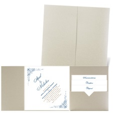 Delicate Filigree - Gold Shimmer - Pocket Invitation