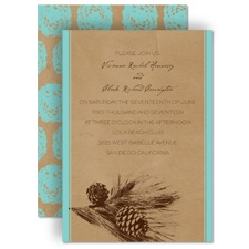 Pine Tree Treasures - Aqua - Invitation
