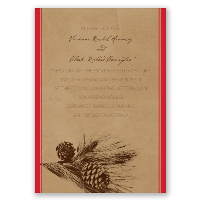 Pine Tree Treasures - Cherry - Invitation