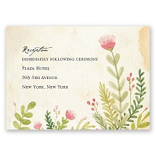 Spring Blossoms - Reception Card