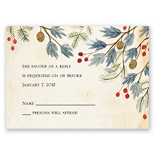 Winter Foliage - Response Card