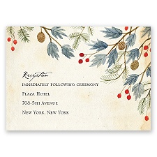 Winter Foliage - Reception Card