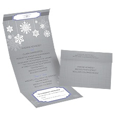 Snowflake Pendents - Seal and Send Invitation