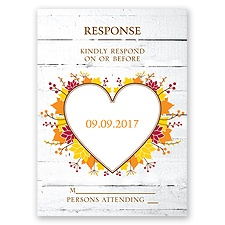Autumn Love - Response Card