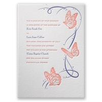 Butterfly Breeze - Letterpress Invitation