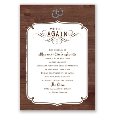 Western Revival - Vow Renewal Invitation