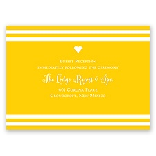 Bold Hearts - Reception Card