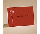 Bloom - (Scarlet) Note Card And Envelope