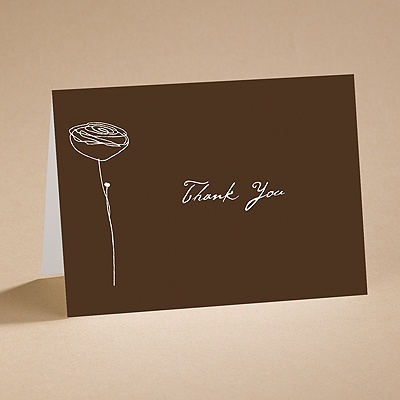 Bloom - (Chocolate) Thank You Card And Envelope