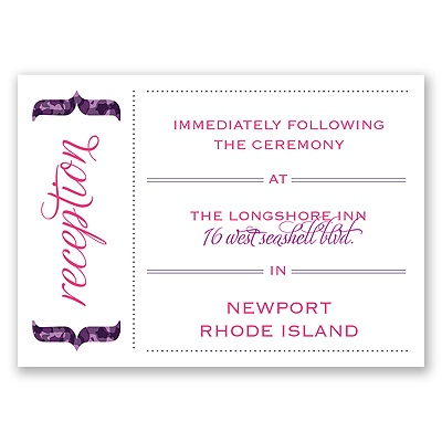 Typography in Camo - Amethyst - Reception Card