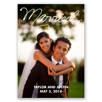Happily Married - Wedding Announcement