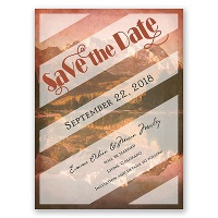 Wildly in Love - Brick - Save the Date Card