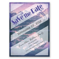 Wildly in Love - Violet - Save the Date Card