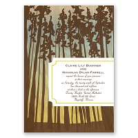 Towering Pines - Canary - Invitation