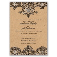 Henna Allure - Silver - Foil Invitation