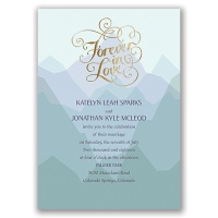 Nature's Inspiration - Gold - Foil Invitation