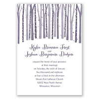 Woodland Snowfall - Silver - Foil Invitation