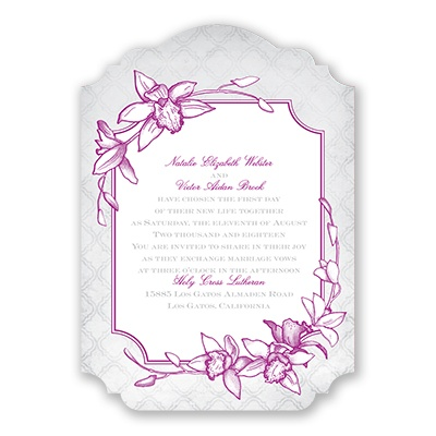 Exotic Orchid - Invitation