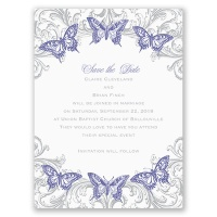 Love Takes Flight - Save the Date Card