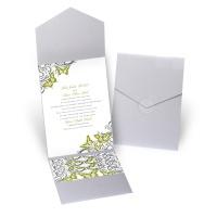 Love Takes Flight - Silver Shimmer - Pocket Invitation