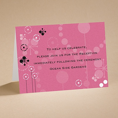 Make a Splash - Reception Card