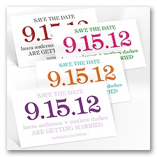 Bold Save The Date Magnet