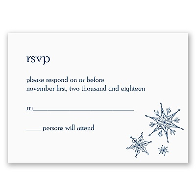 Sensational Snowfall - Respond Card and Envelope