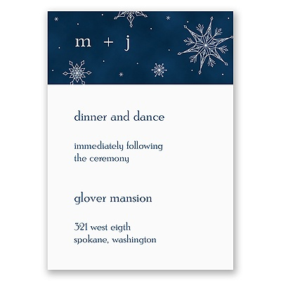 Sensational Snowfall - Reception Card