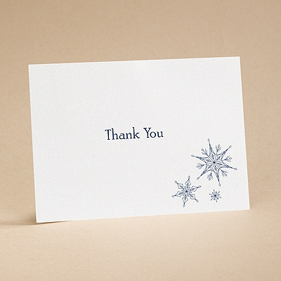 Sensational Snowfall - Thank You Card with Verse and Envelope